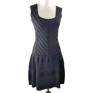 nanette lepore black sunrise shift dress size S